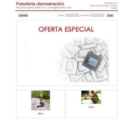 Ejemplo de La Galeria Digital - Foto Oferta