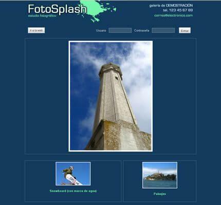 Ejemplo de La Galería Digital - Foto Splash