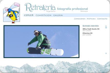 Nueva web de Retrateria - Benasque (Huesca)