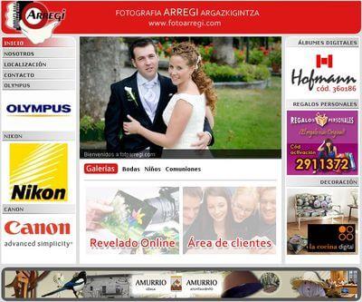 Nueva web de Foto Arregi - Amurrio