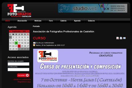 Nueva web de Fotógrafos de Castellón