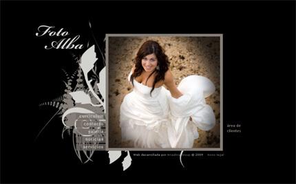 Web de Foto Alba (plantilla París)
