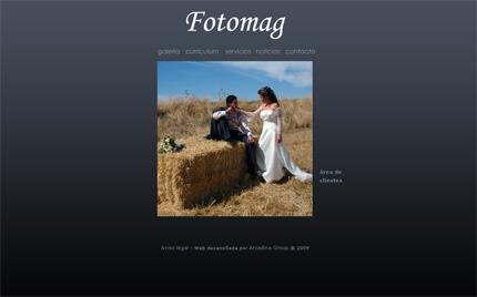 Web de Fotomag (plantilla Praga)