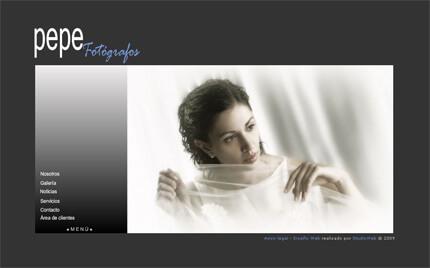 Web de Pepe Fotógrafos (plantilla Oslo)