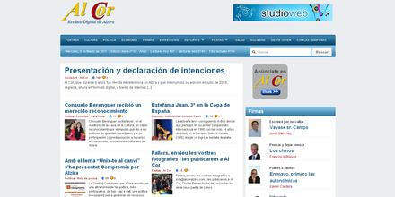 Nueva web de AlCor Alzira