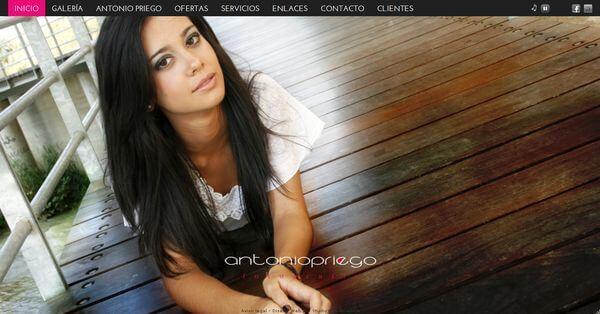 Nueva web de Antonio Priego