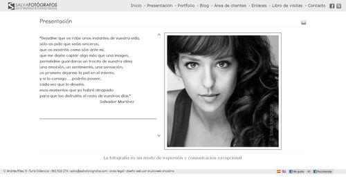 Nueva web de Salva Fotógrafos. www.salvafotografos.com