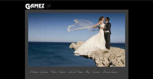 Nueva web de Gámez Fotógrafos