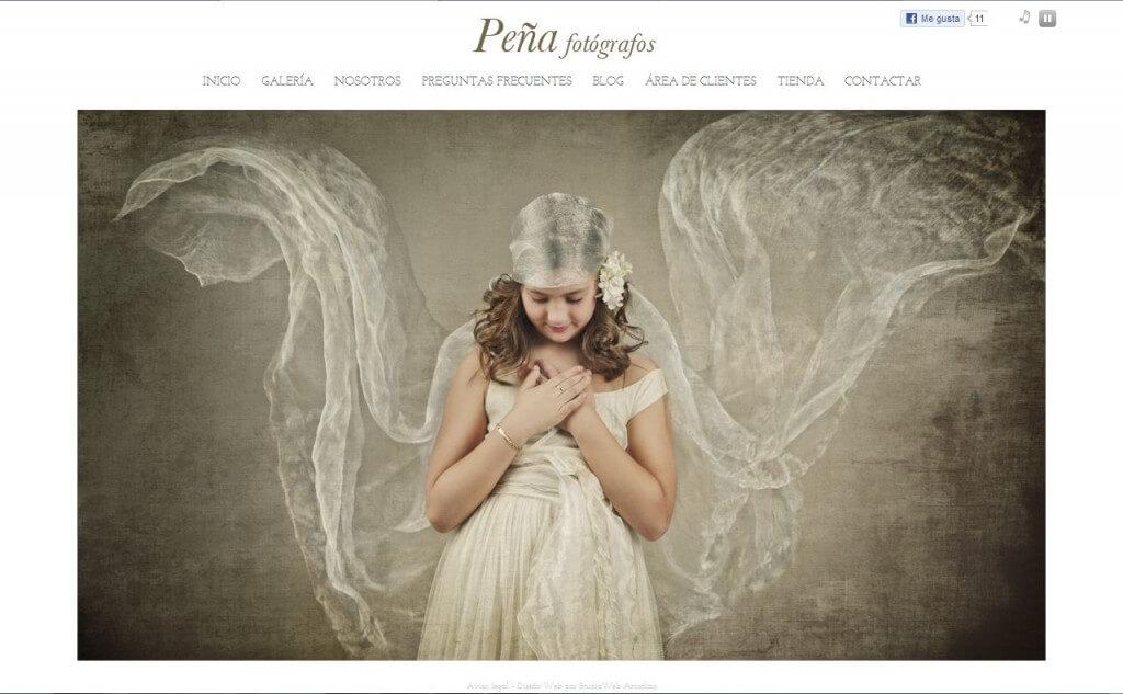 Nueva web de Fotos Peña