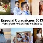 Especial comuniones 2013, webs profesionales para fotógrafos