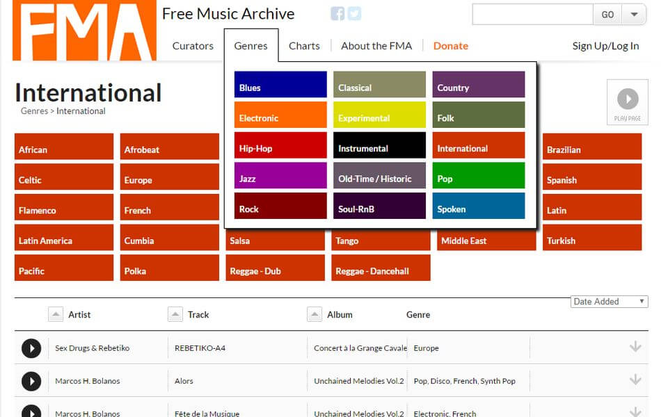 Free Music Archive - Archivo de música para fotógrafos