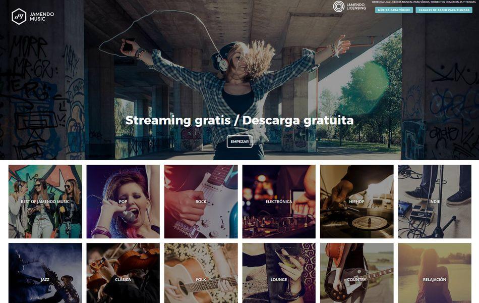 Jamendo - Descarga gratis música para tus proyectos fotógraficos