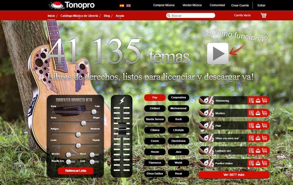 TonoPro - Música para fotógrafos y creativos
