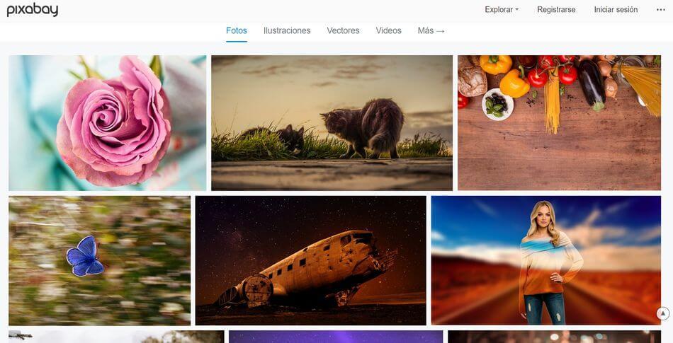 Banco de imagen gratuito Pixabay