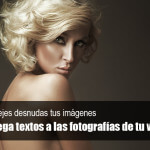 Agrega textos a las fotografías de tu web