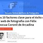 """Nuevo Webinar en directo en FDF sobre las """"Claves para que tu web de fotógrafo funcione"""""""