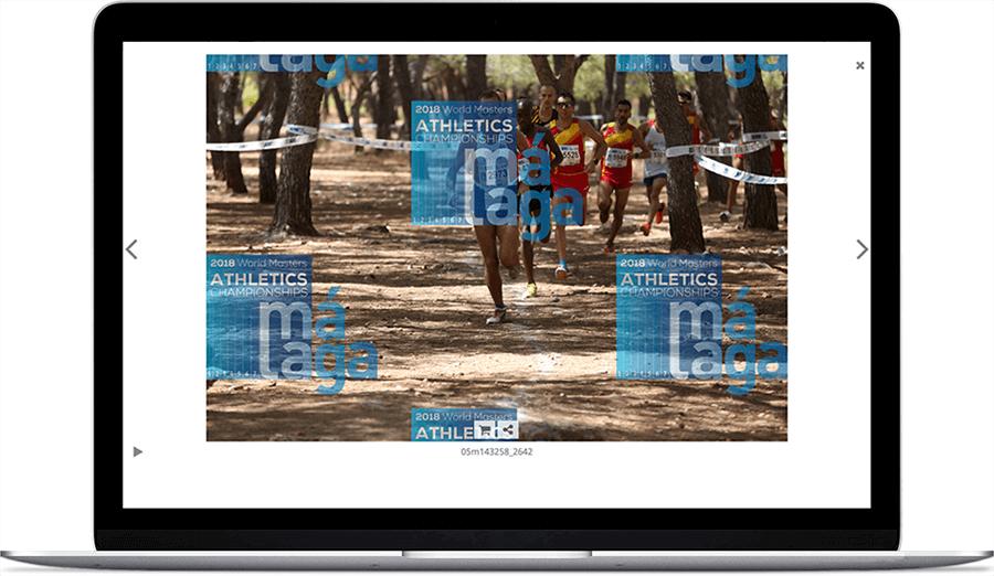 Marca de agua utilizada por la web Málaga 2018 en sus fotografías