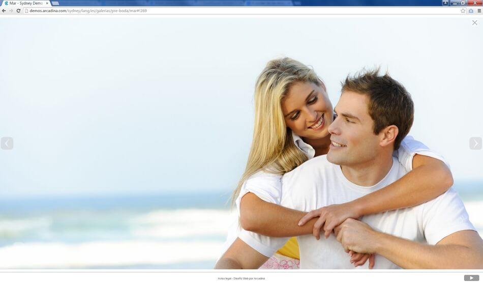 Galería de ejemplo del diseño web Sydney