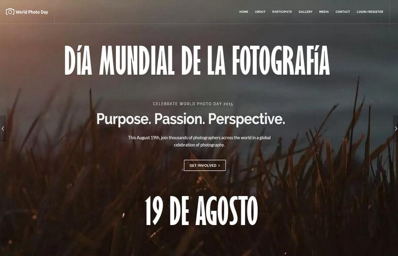 Feliz día mundial de la fotografía