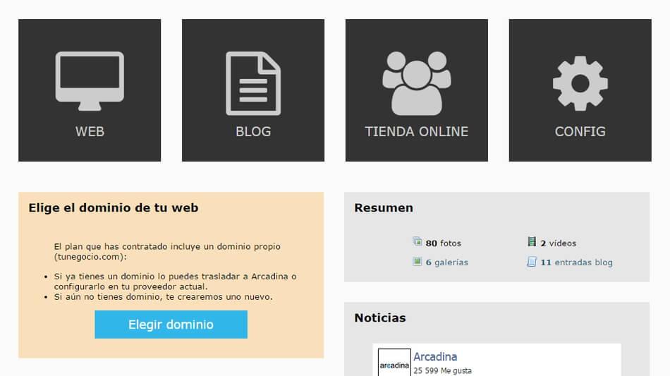 Elige el dominio de tu web de fotografía y vídeo