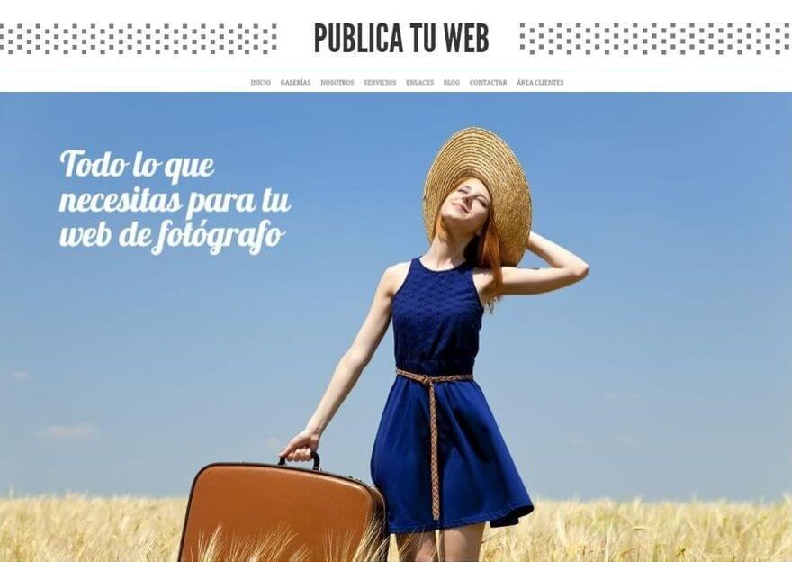 Publicar una web de fotografía y vídeo
