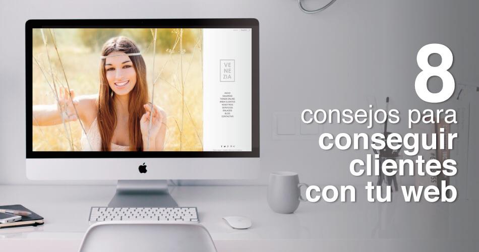 Cómo conseguir clientes con una web de fotografía