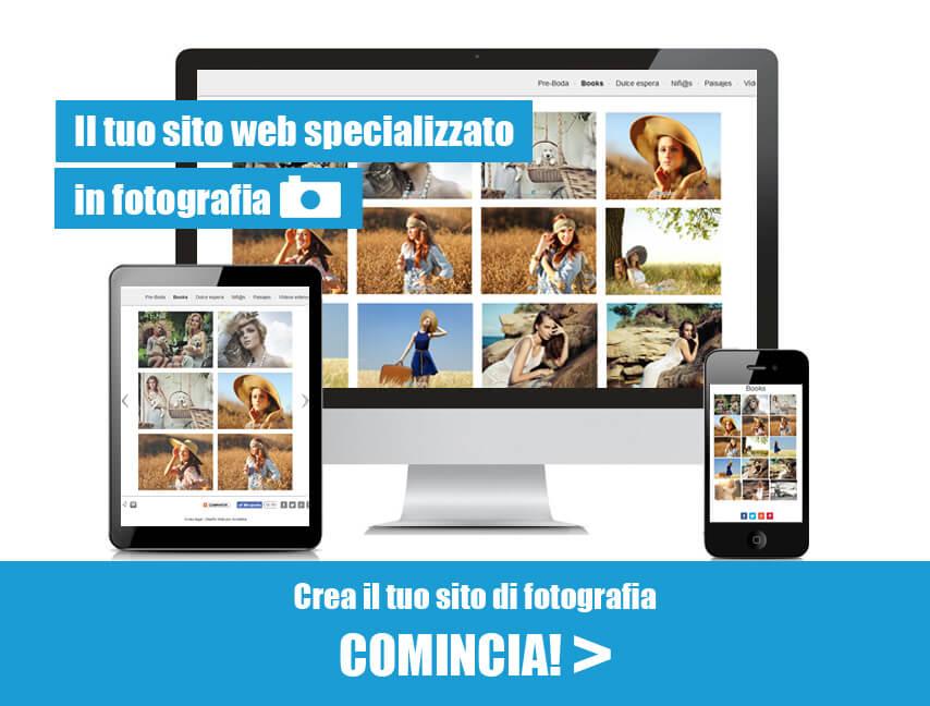 Creare sito web di fotografia