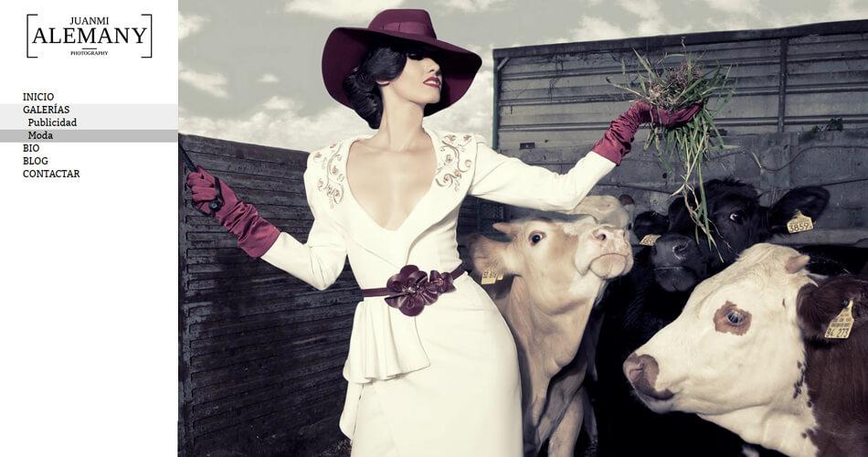 Web de fotógrafo profesional trabajando en diferentes disciplinas fotográficas como la publicidad o la moda