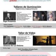 Arcadina patrocina los talleres de Fepfi de Iluminación y Vídeo en Noviembre 2016