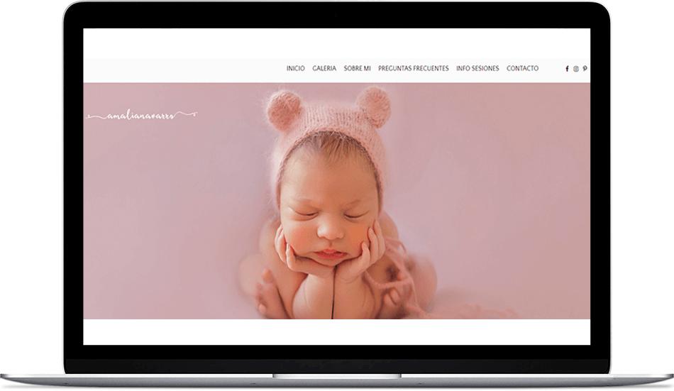Amalia Navarro. Fotógrafa de bebés.
