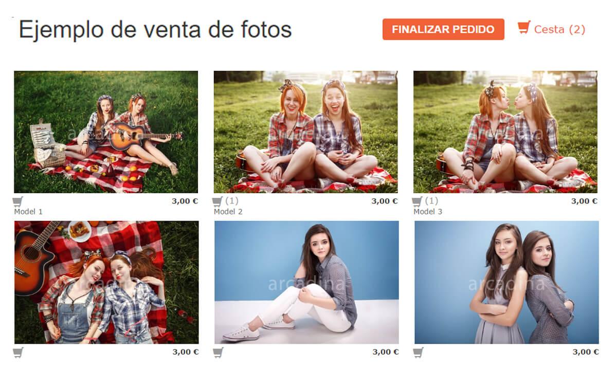 Venta de fotos con pago electrónico y descarga digital