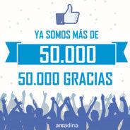 ¡Ya somos más de 50.000 seguidores en Facebook!