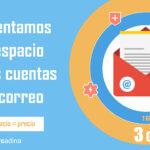 Novedad: Aumentamos el espacio de tus cuentas de correo