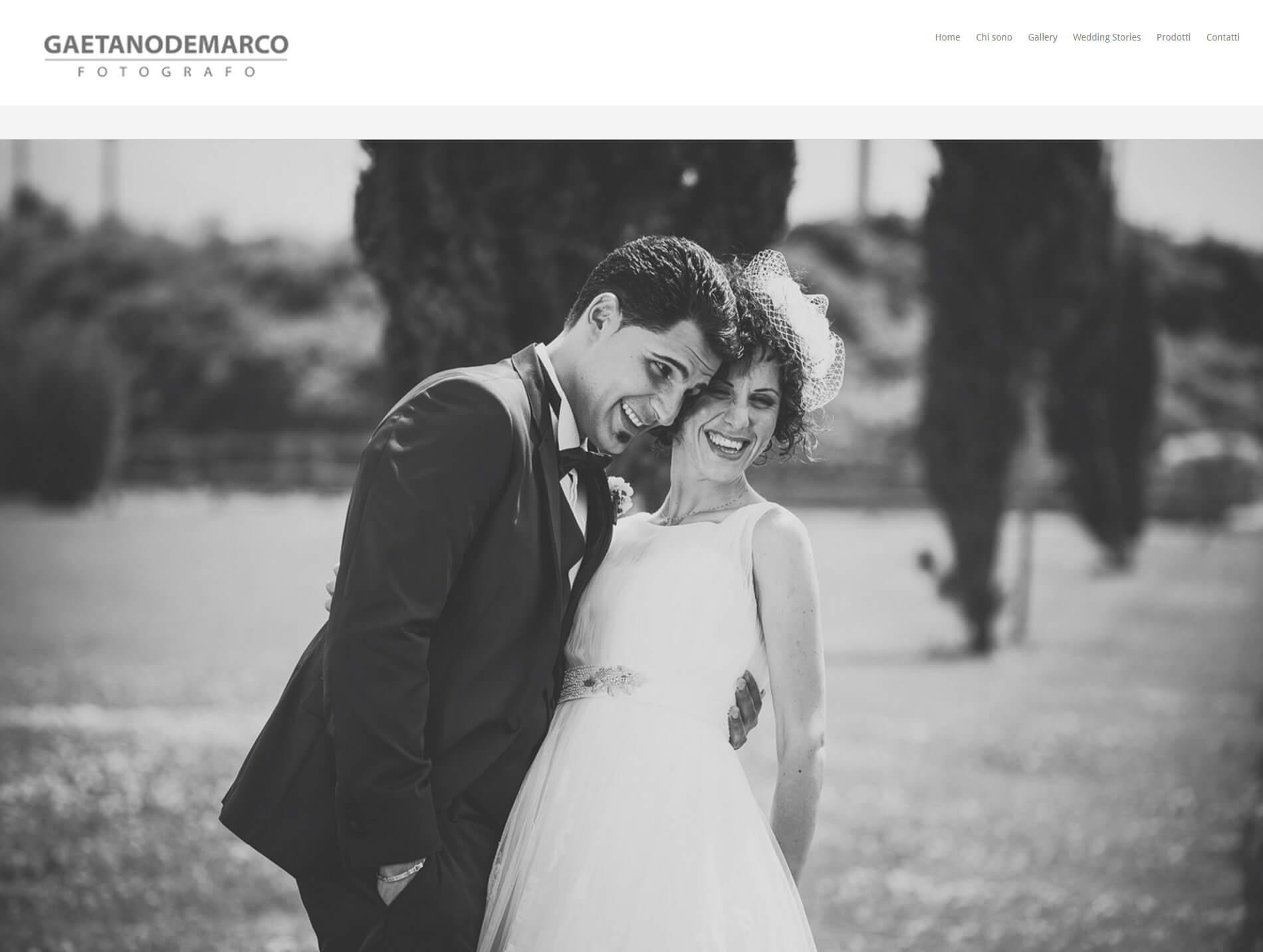 Web de Gaetano de Marco. Fotógrafo de bodas en Italia