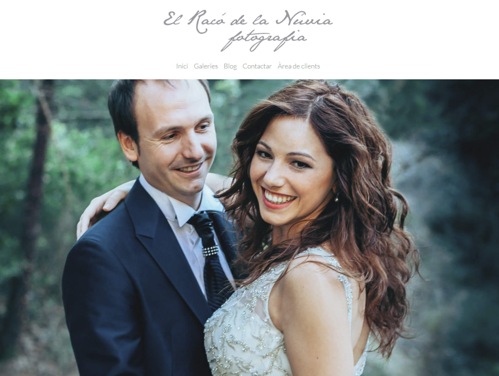 Web de El Racó de la Nuvia. Fotógrafo de bodas en Tarragona