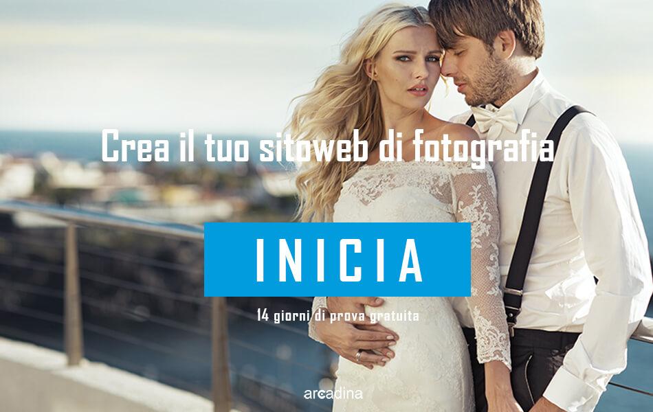 Crea il tuo sito web del fotografo di matrimoni