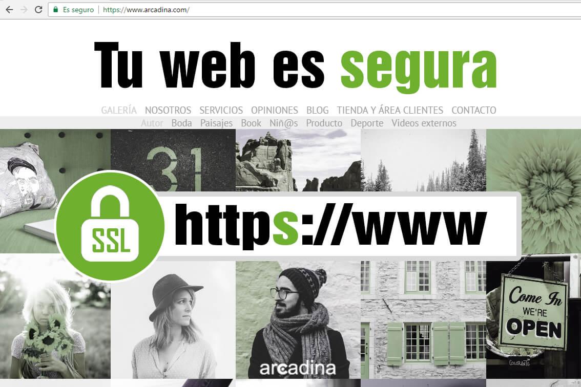 Web de fotografía con certificado SSL