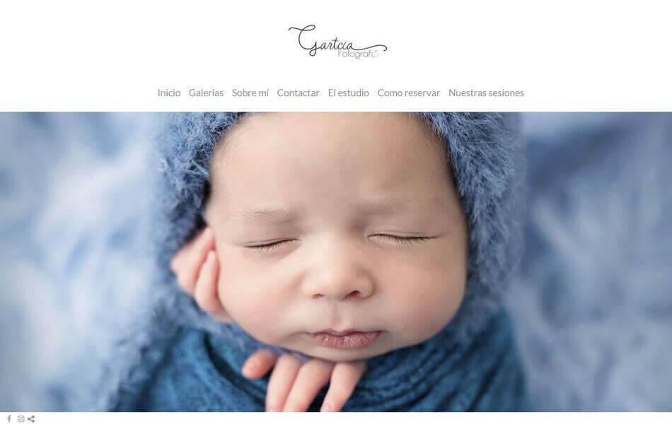 web de fotografía para bebés