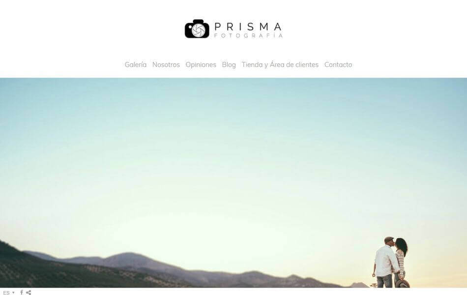 web de fotografía de bodas