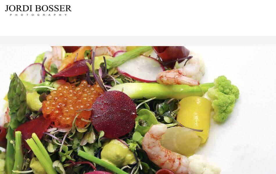 Web de fotografía de comida