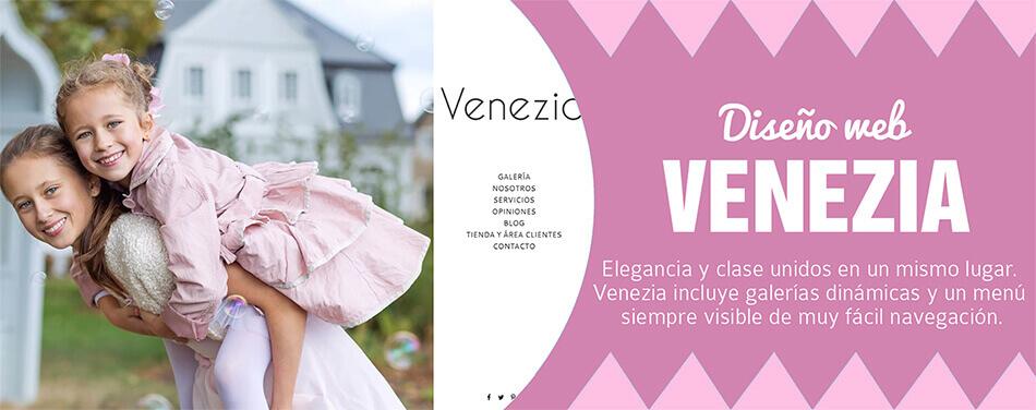 Diseño web para fotógrafos Venezia