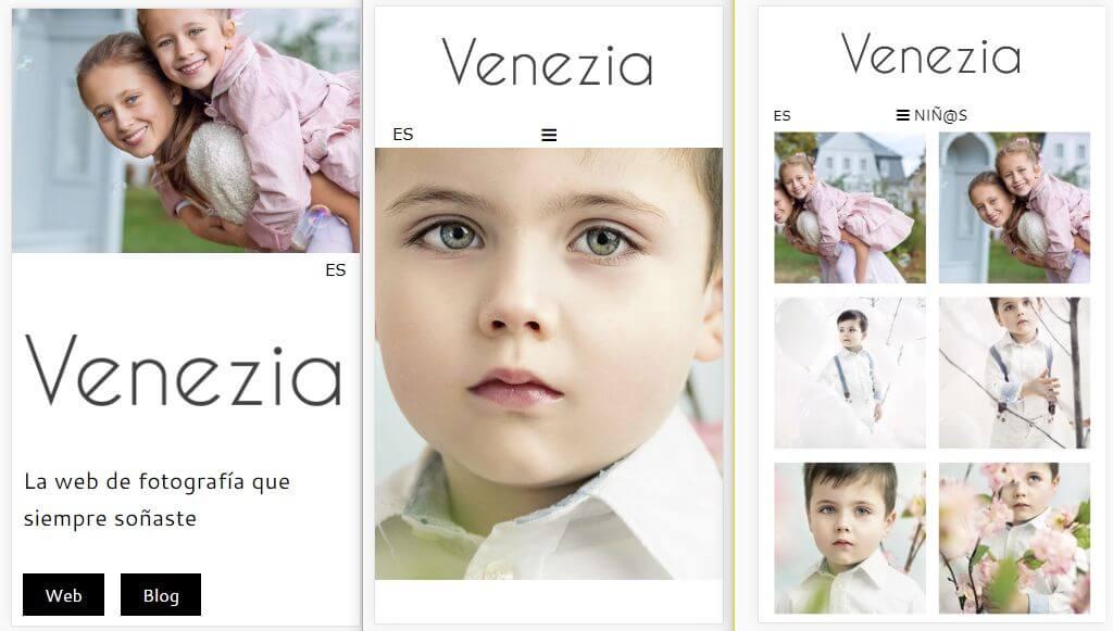 web para fotógrafos adaptada a móviles y tablets