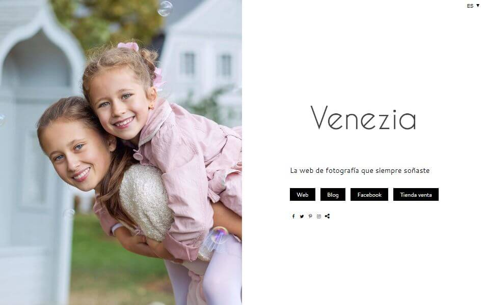 Diseño web para fotografía y vídeo Venezia