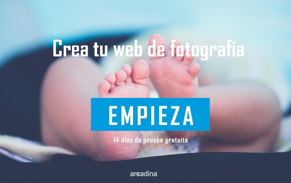 Crea tu web de fotografía con Arcadina