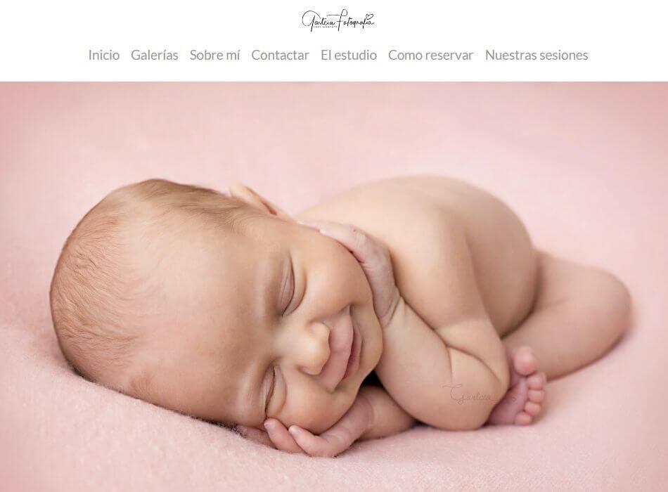 webs de fotografia de recién nacido