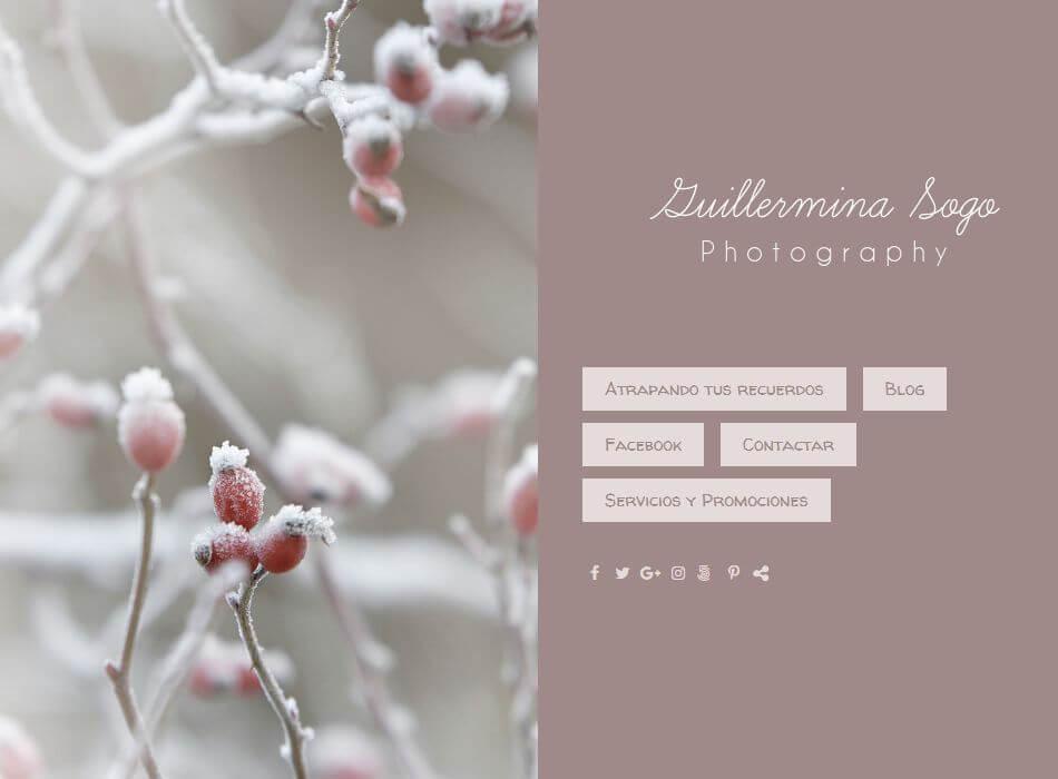web de fotografía de niños