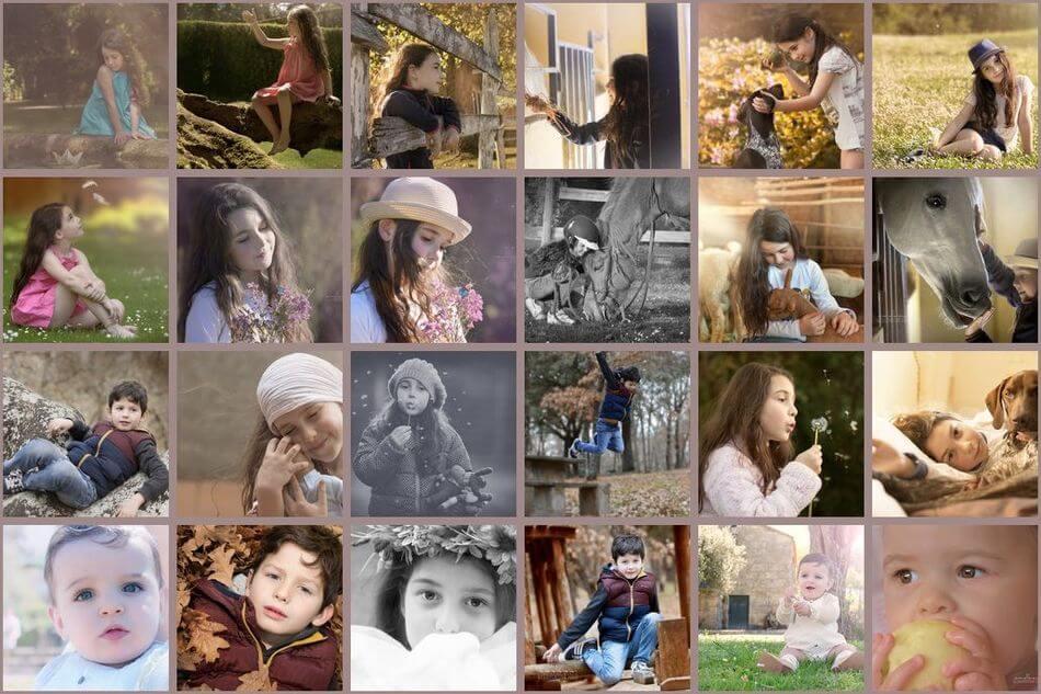 web de fotografía niños y familias