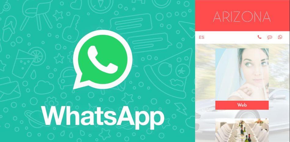 Incluye iconos móviles de llamada, SMS y WhatsApp en tu web
