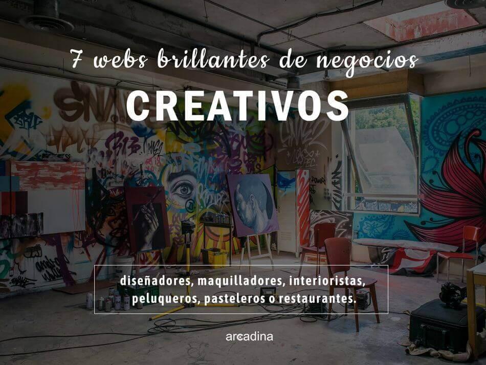 7 webs de negocios creativos. Webs para diseñadores, maquilladores, peluqueros, modelos, arquitectos, interioristas o restaurantes.