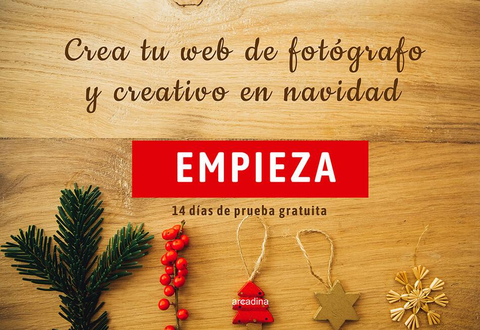 Crea tu web de fotógrafo y creativo en Navidad